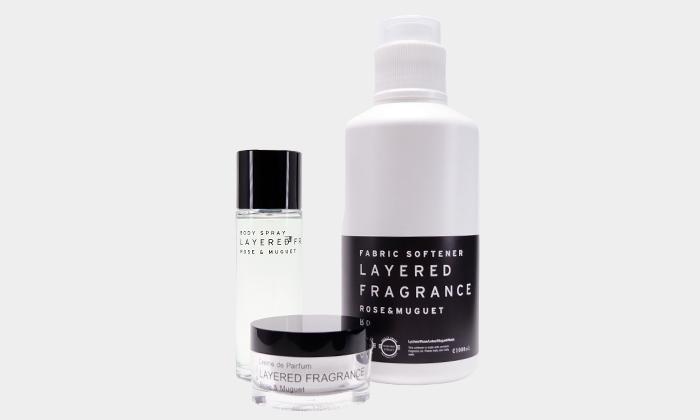 フレグランス革命セット ¥7,344 LAYERED FRAGRANCEシリーズCrème de Parfum body spray ファブリックソフトナー