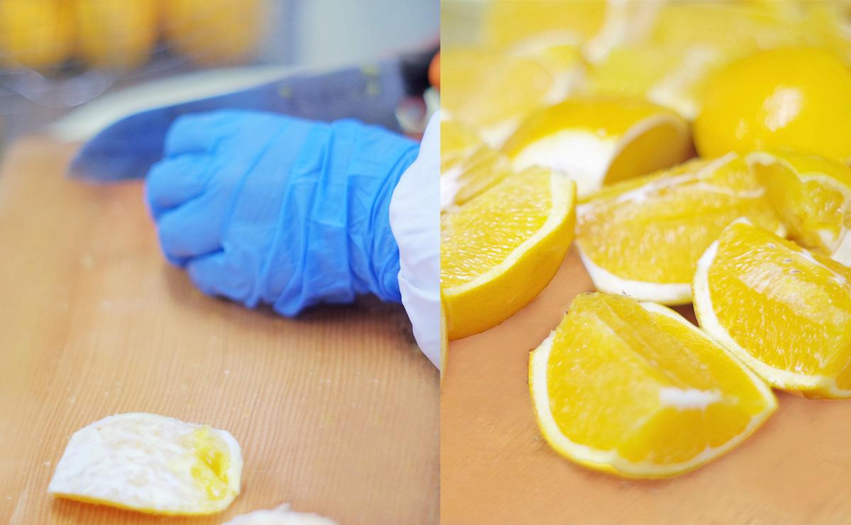八朔ぷりん・檸檬ぷりん 調理工程